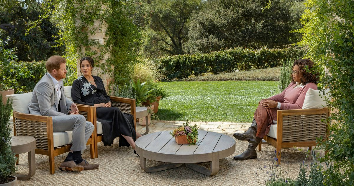 Royal couple's 'gentle' dig at Oprah after Harry interviews