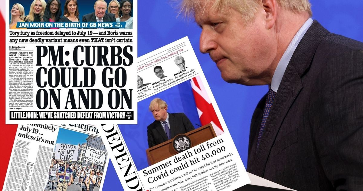 Tuesday's frontpages as papers react to lockdown extension