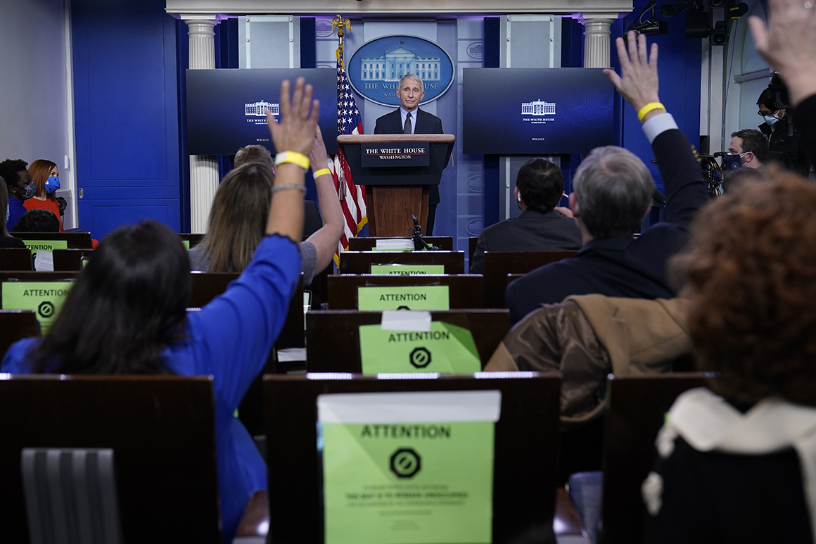 W.H. briefing room to return to full, pre-pandemic seating capacity