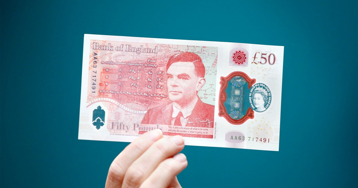 WWII codebreaker Alan Turing becomes 1st gay man on a British bank note