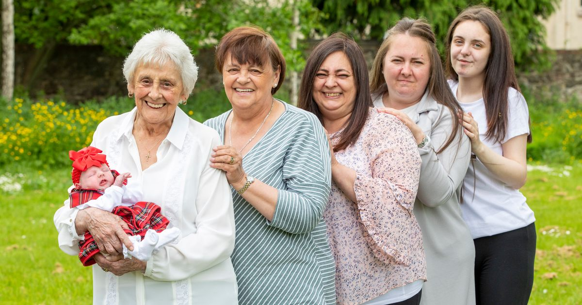 Woman is one of UK's only great-great-great grandmothers at 86