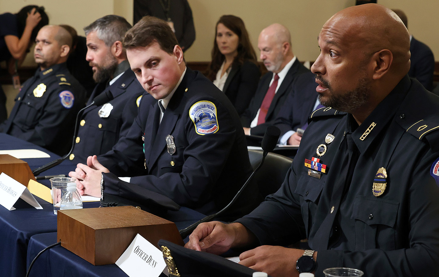 Police officers testifying at January 6th hearings