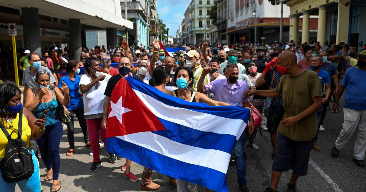 'We are no longer afraid': Thousands of Cubans protest against conditions on island