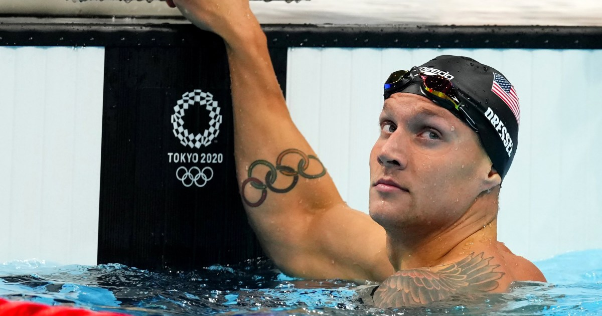 Caeleb Dressel adds to his gold medal collection with 50-meter freestyle win