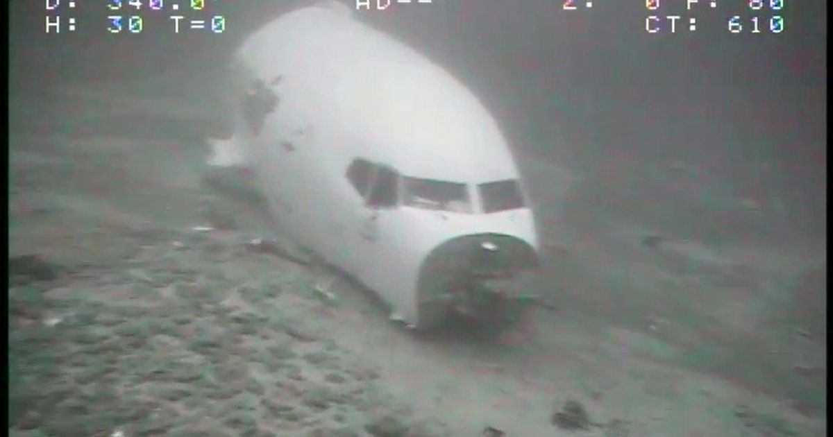 Chilling pictures show remains of cargo jet forced to make emergency landing