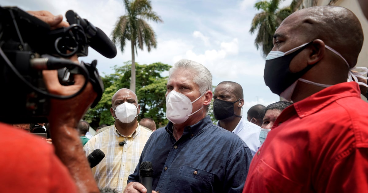 Cuban president responds to Biden on 'failed state' comments