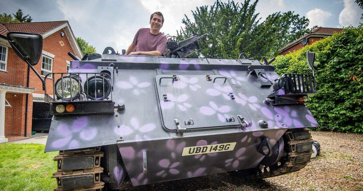 Dad plans to launch taxi service in his 1960s' tank