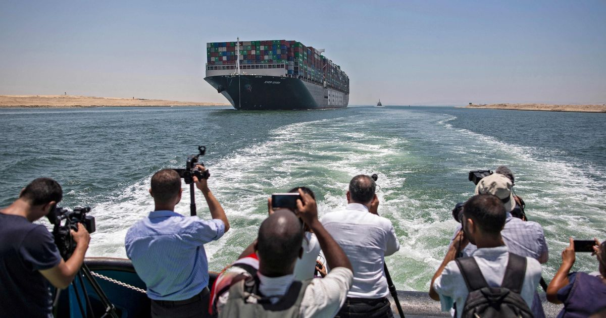 Ever Given ship leaves Suez Canal 106 days after getting stuck in vital passage