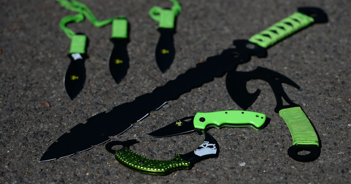 Having a zombie knife or knuckleduster at home could lead to a prison sentence