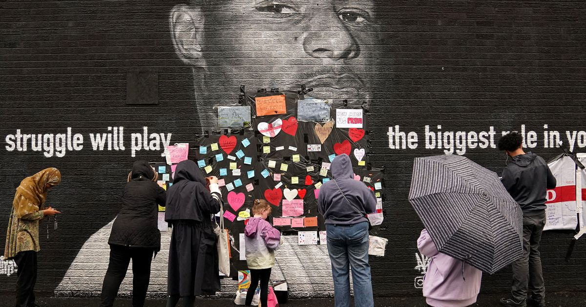 Marcus Rashford issues moving message as defaced mural replaced with hearts