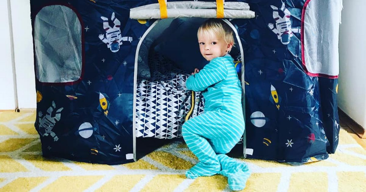 Mum transforms son's old cot into dream play tent - and it cost her nothing