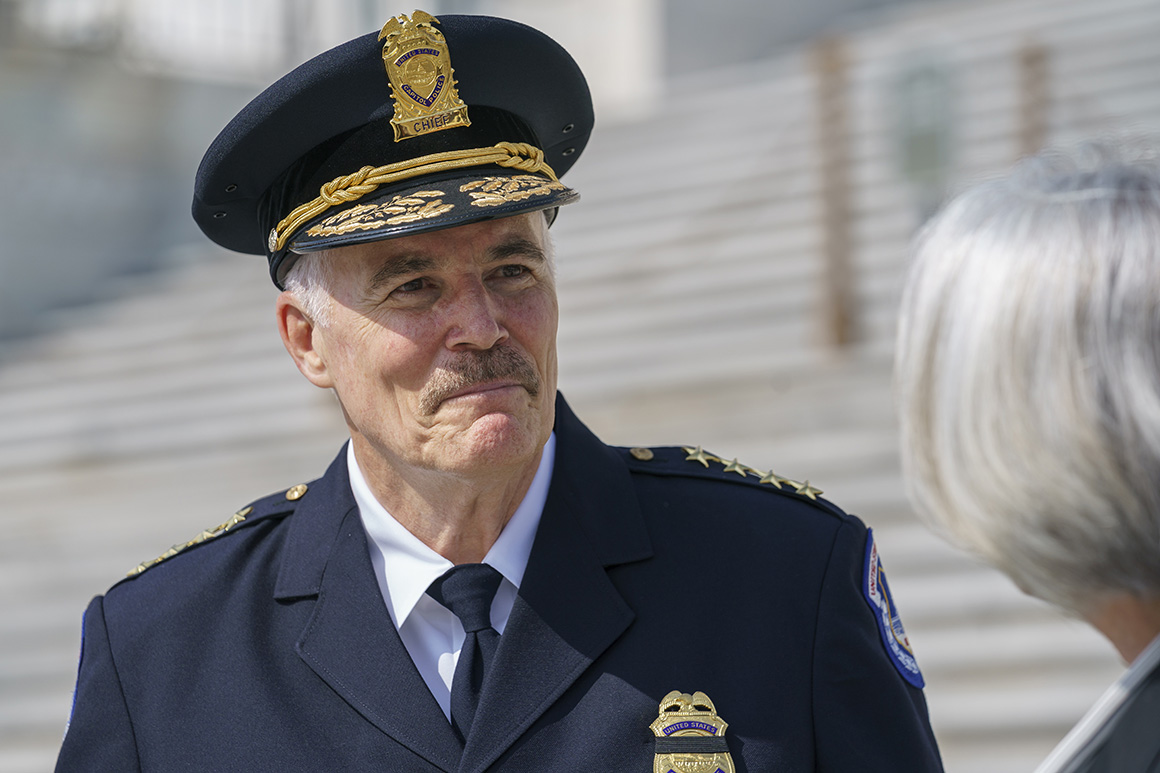 New Capitol Police Chief Manger takes charge amid turmoil at department