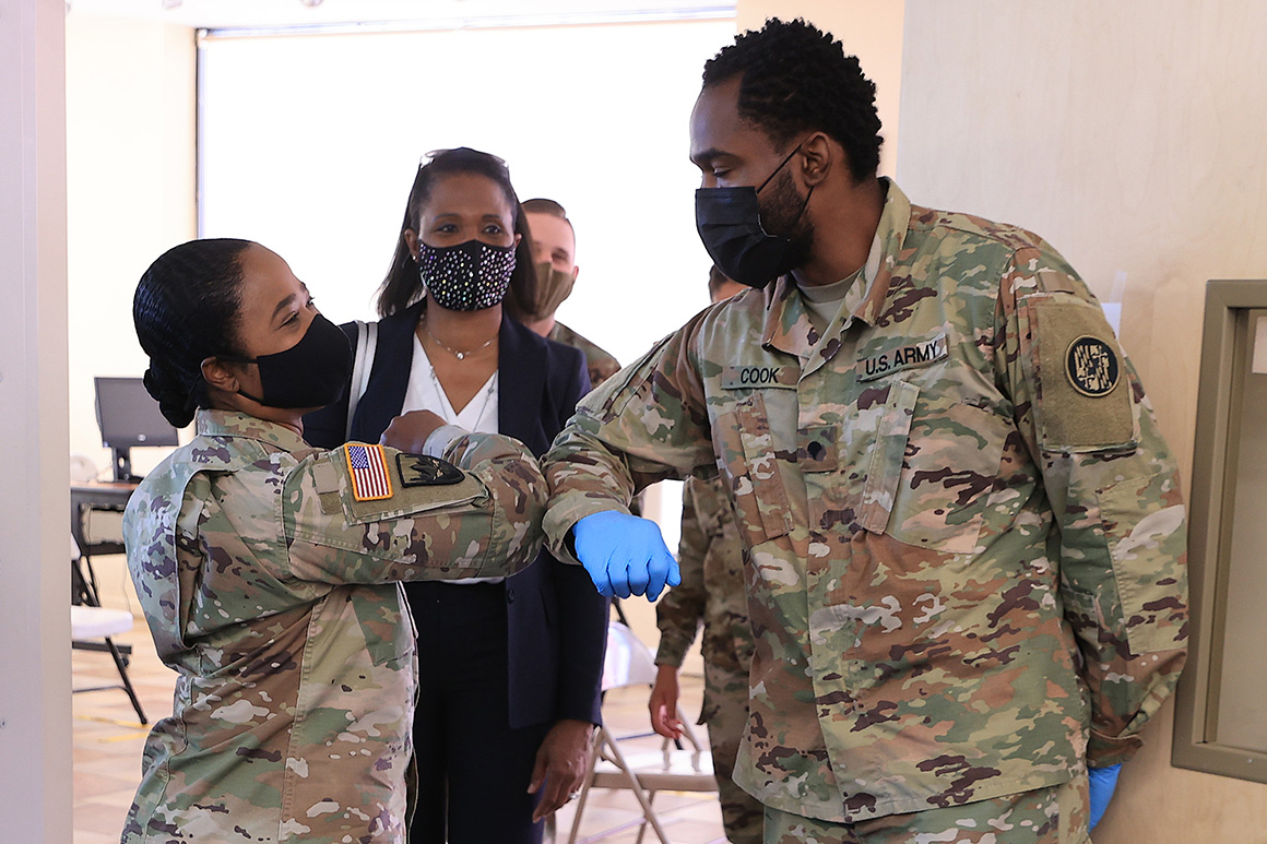 Pentagon: 70 percent of service members have received first dose of Covid vaccine