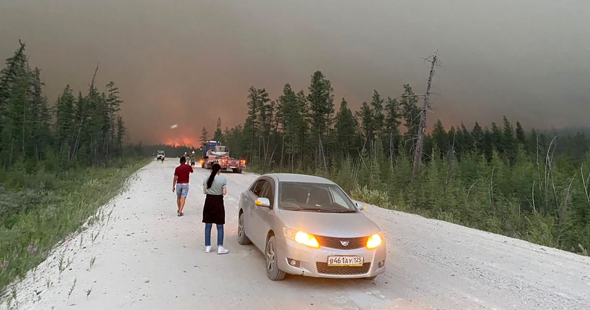 Raging wildfires engulf Stalin's Road of Bones in world's coldest inhabited area