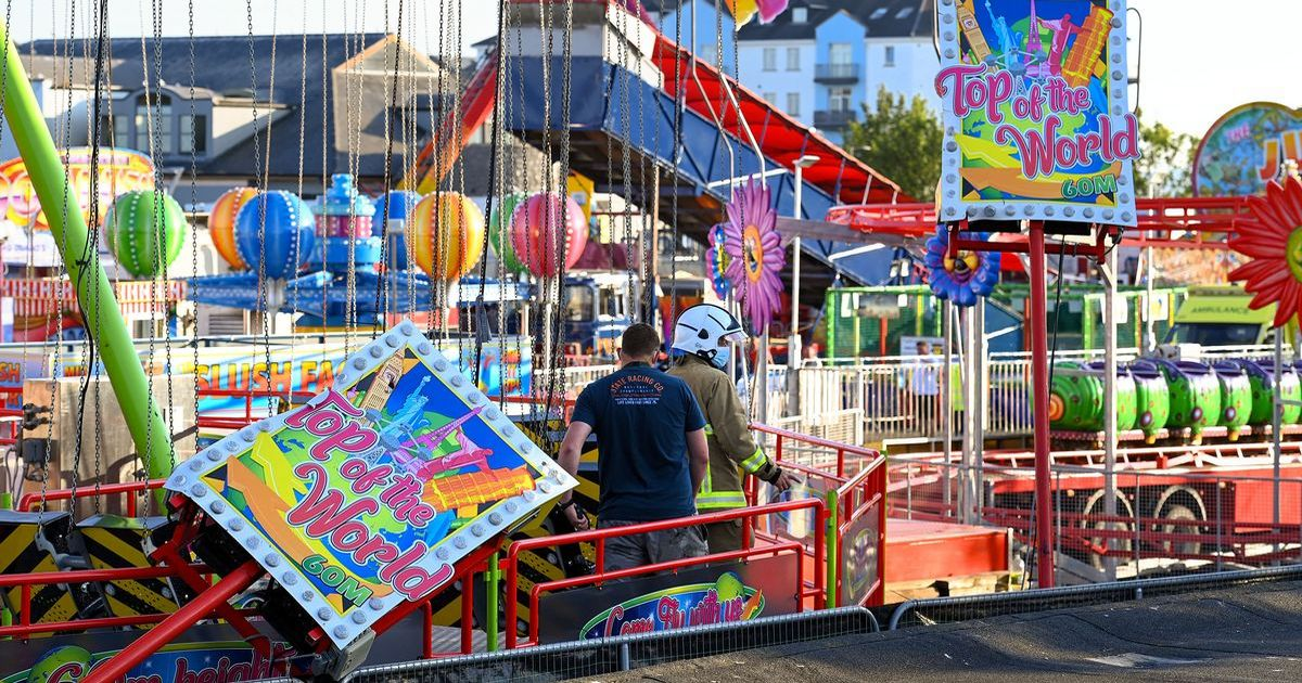Six rushed to hospital as fairground ride filled with children collapses