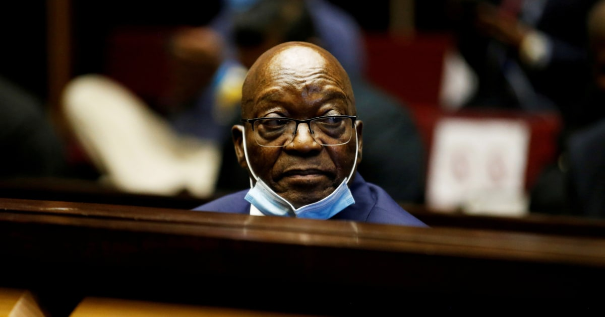 South Africa's ex-president turns himself in for 15-month prison term