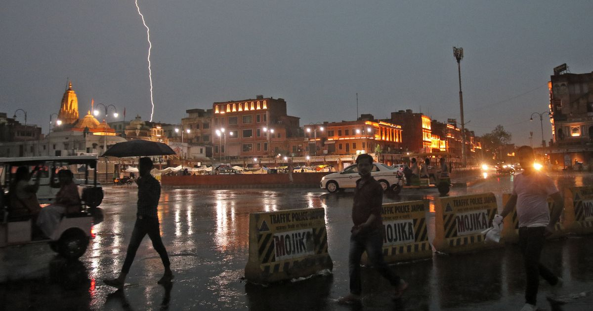 Tourists taking selfies among 68 people killed in lightning strikes across India