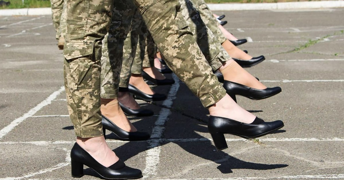 Ukrainian plan for female cadets to march in high heels sparks outrage