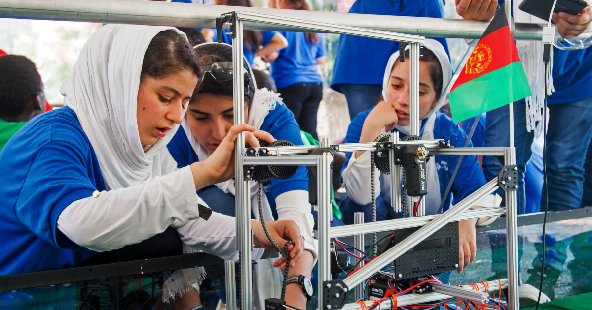 'Nothing can stop us': Afghan female robotics team defiant after fleeing Taliban
