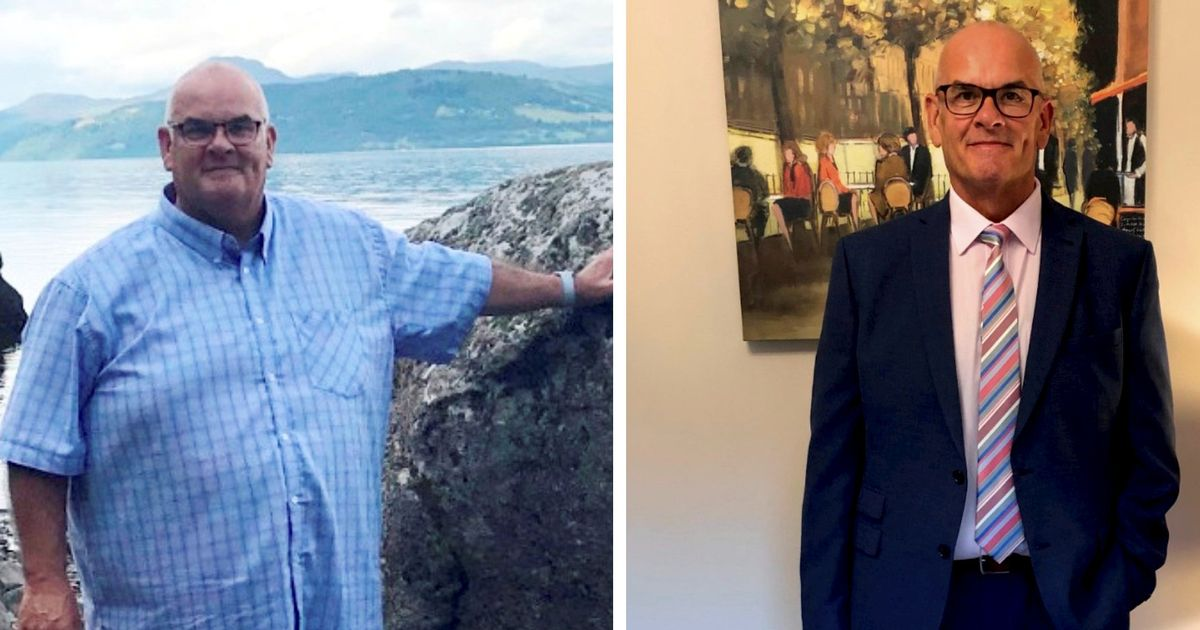 Overweight ex-detective whose heart stopped for 10 minutes sheds nine stone to win slim award