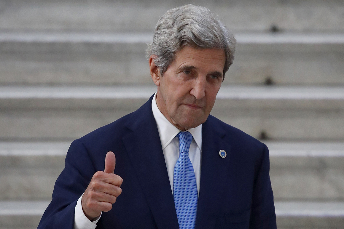 Kerry in Japan to discuss effort to cut emissions