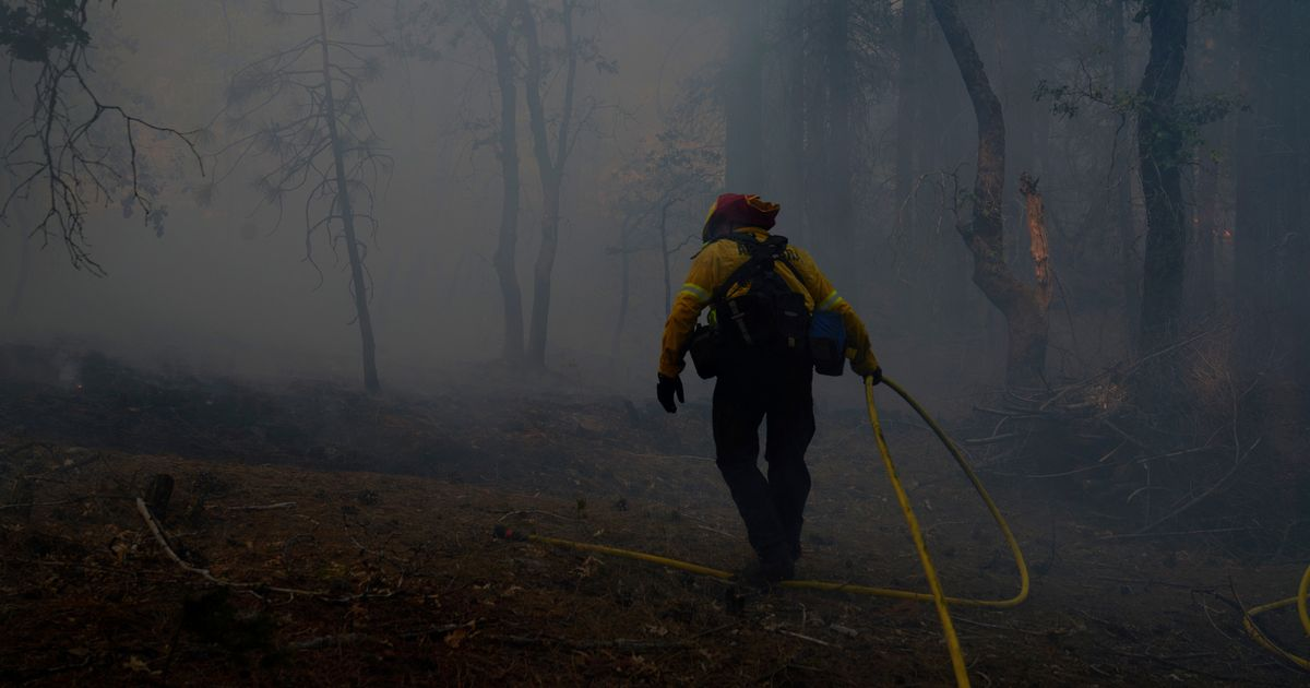 More than 13,500 firefighters battling to contain California wildfires