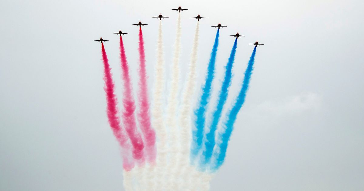 Red Arrows' iconic red, white and blue smoke trails 'going green'
