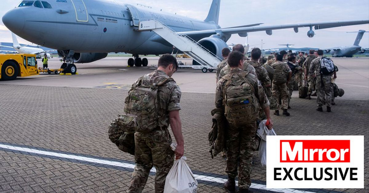 Members of Joint Forces Headquarters (JFHQ) deploying to Afghanistan to assist in the draw down of troops from the area