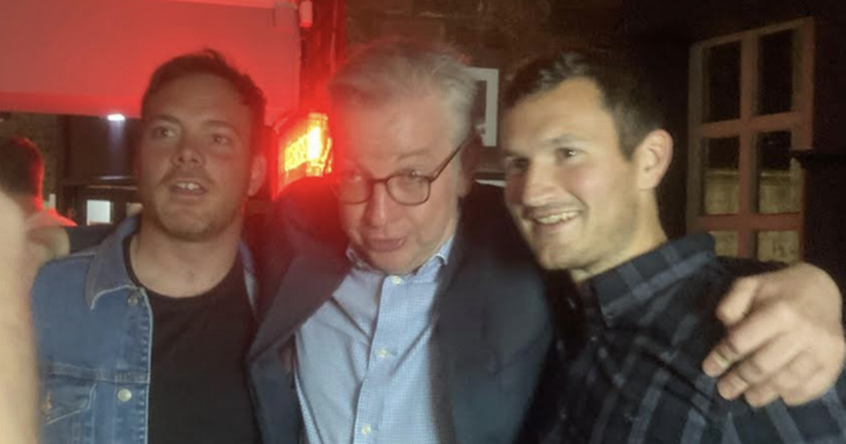Senior Tory Michael Gove cuts a move on the dancefloor during a night out in his old hometown
