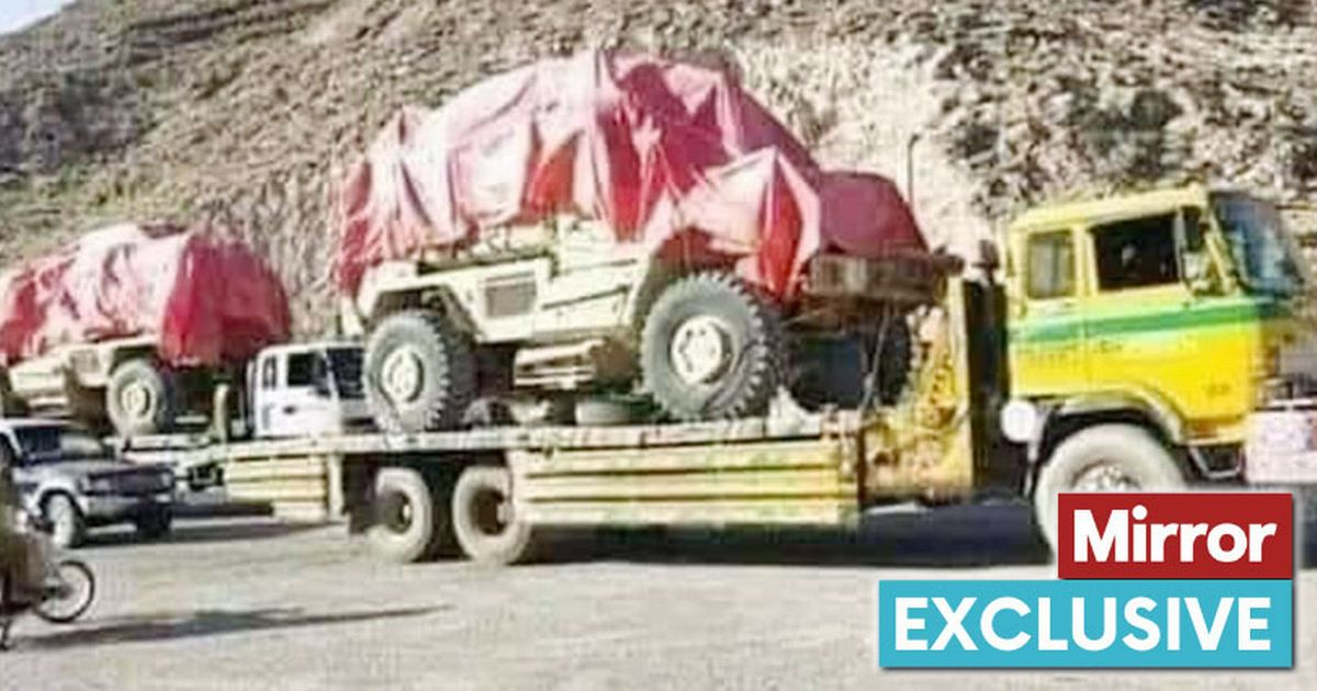 Pictures show Taliban exporting US Military vehicles to Pakistan