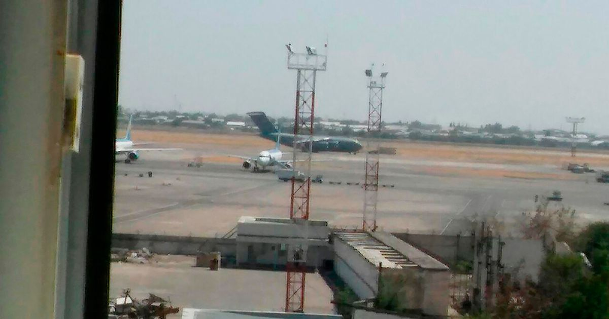 American C-17 plane 1109 supposedly having landed at the Tashkent airport