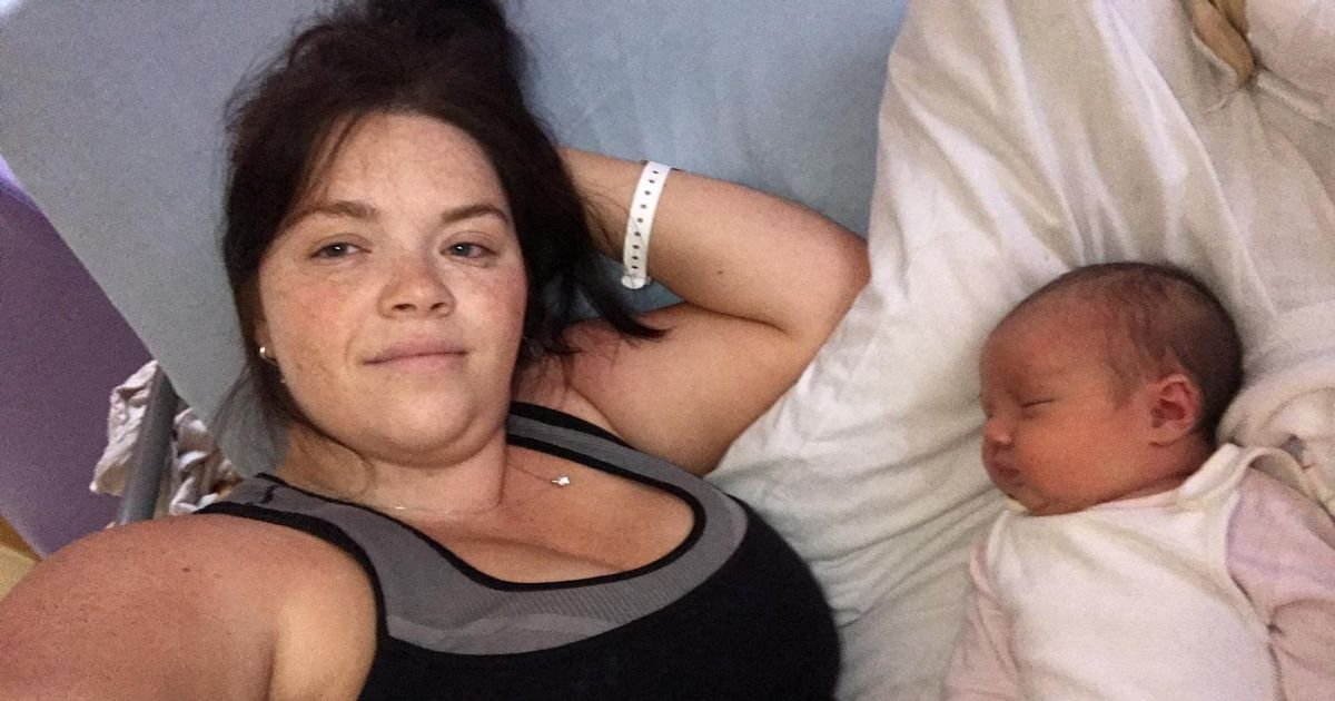 Woman found out she was pregnant and in labour just four hours before she gave birth