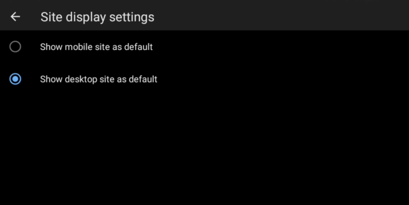 Chrome Tests Continuous Desktop Site Option for Android 1