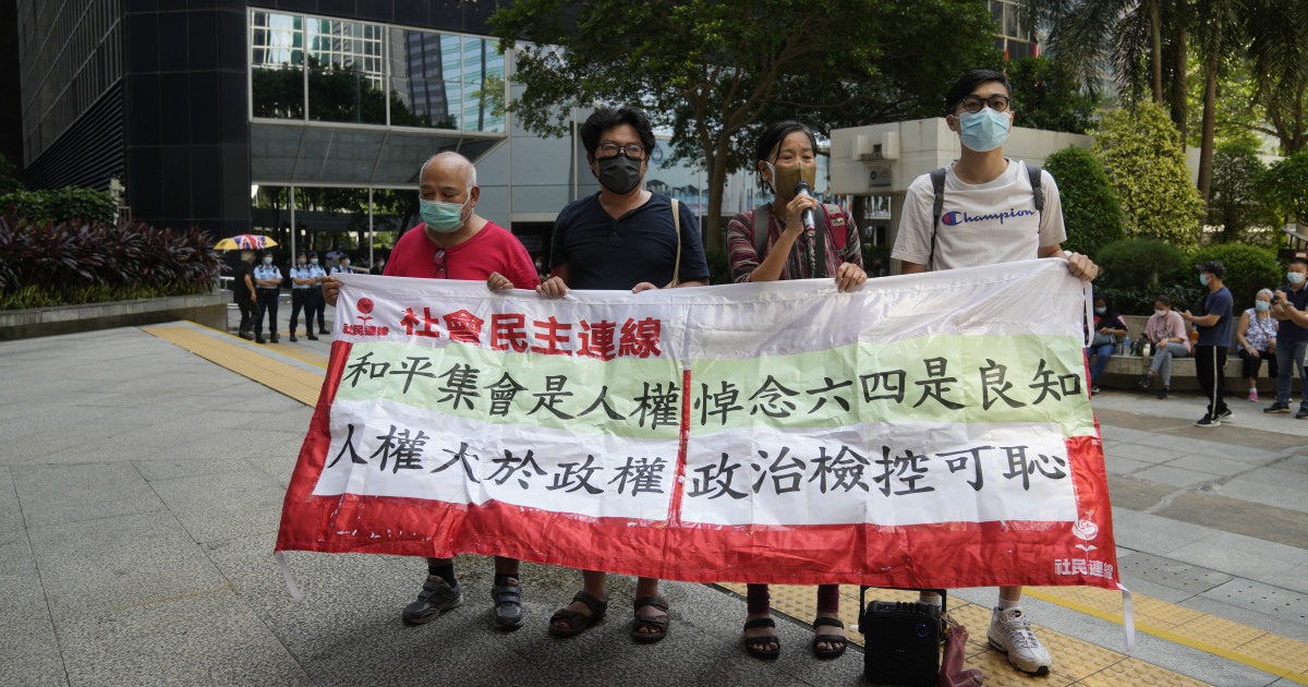9 Hong Kong activists jailed for months over unauthorized Tiananmen vigil