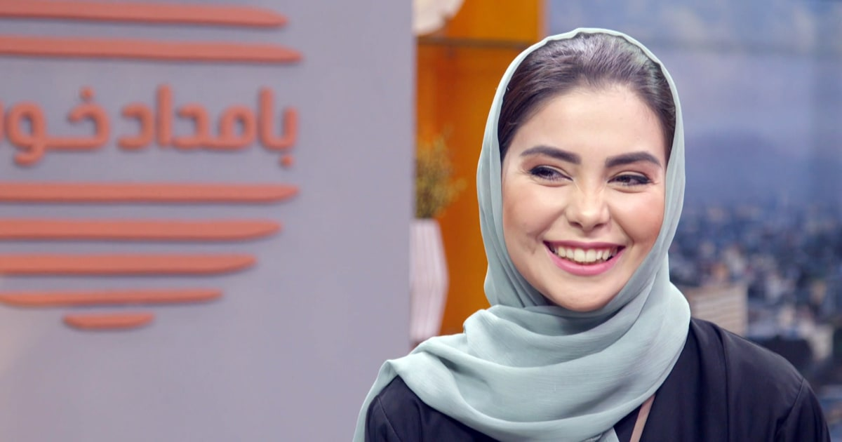 Afghan TV host smiles at the camera even through fear