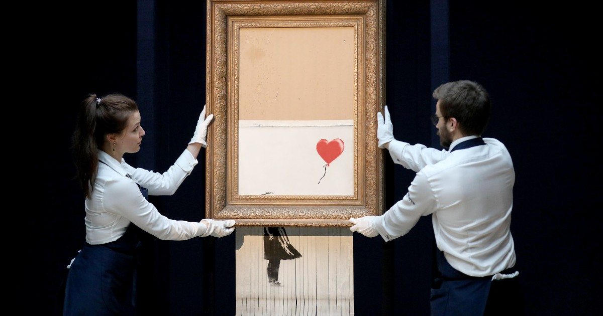 Banksy artwork returns to auction three years after shredding itself