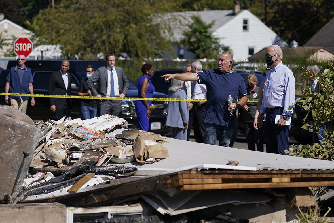 Biden tours flood-ravaged N.J., NYC, says infrastructure plan needed to deal with climate change