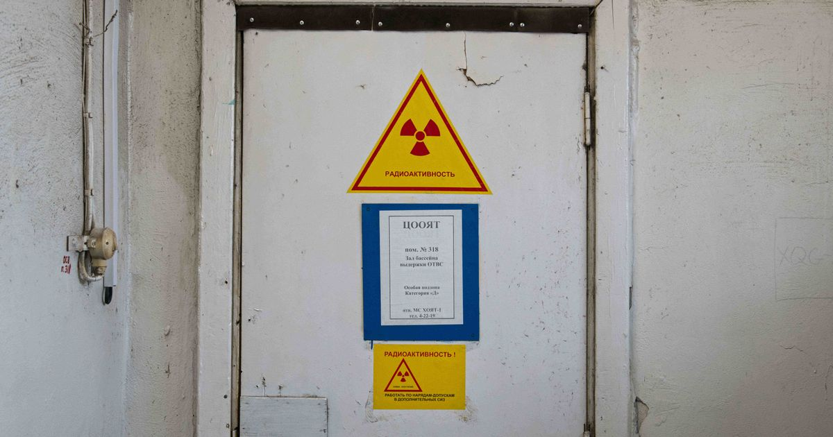 Nuclear symbols are located all throughout the plant