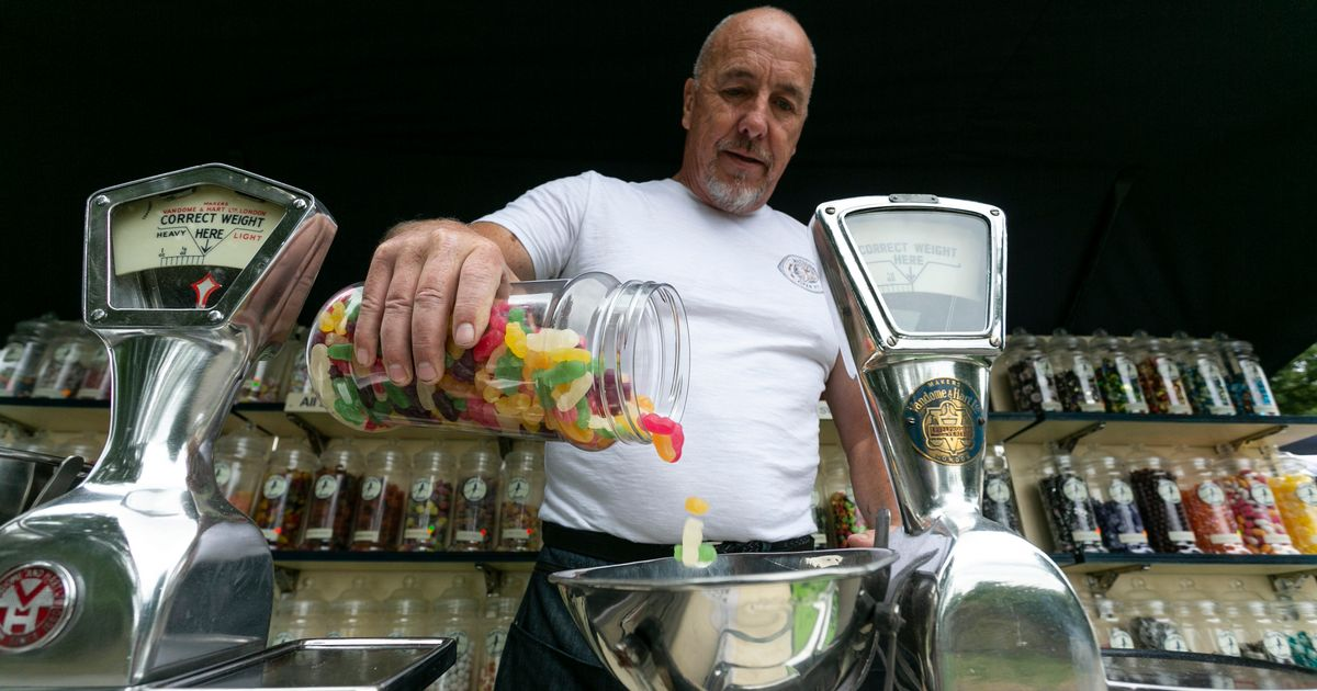 Couple come out of retirement to turn canal boat into quirky sweet shop