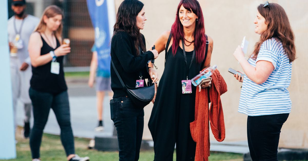 Courteney Cox makes Friends with fans as she joins musician partner at Isle of Wight festival