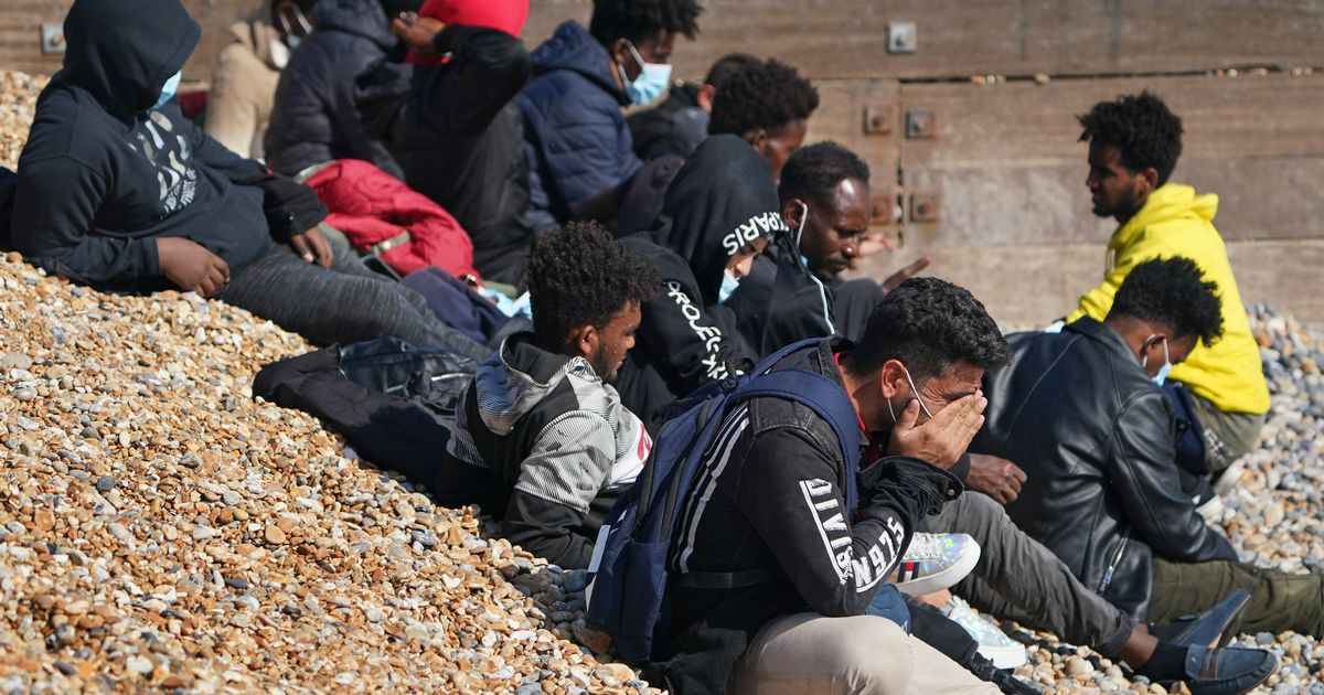 Eritrean teenager happy to be in UK as he and others cross English Channel