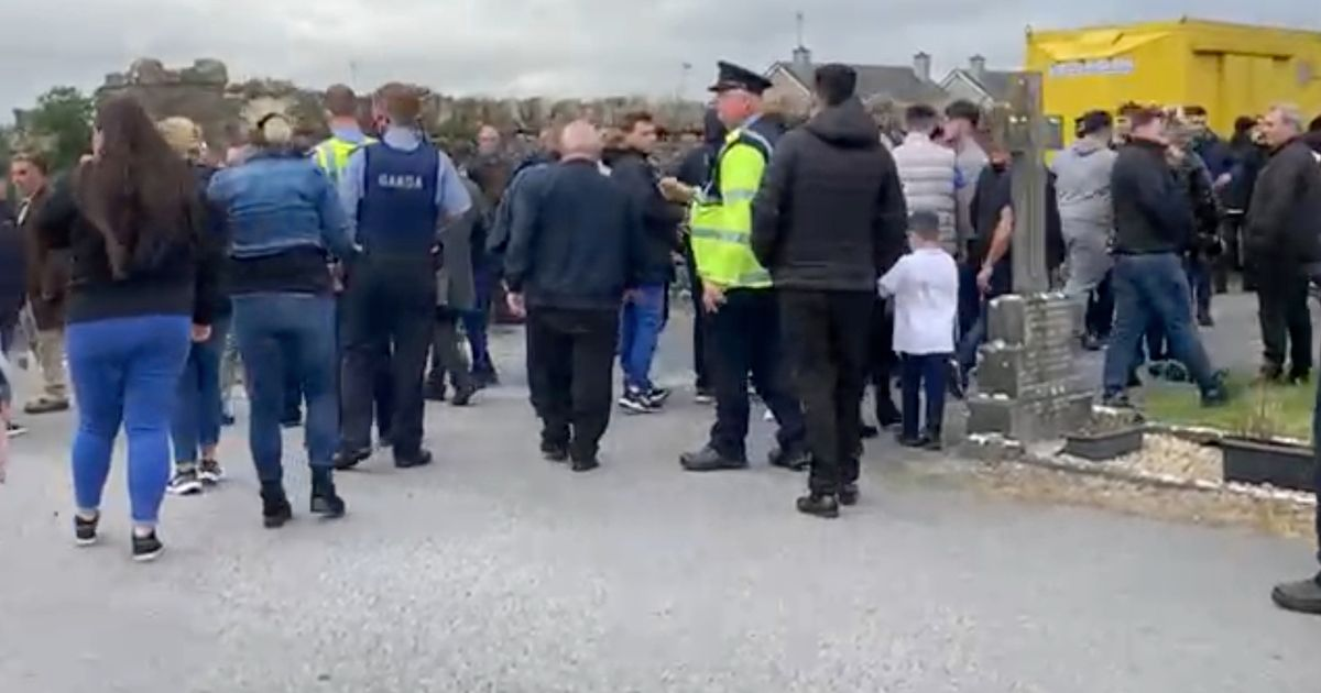 Coffin dropped to ground in feud-fight after mass
