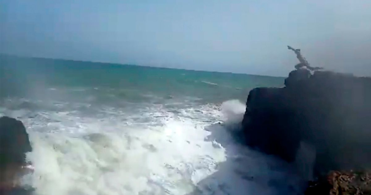 Footage of the incident in Torrevieja, Spain
