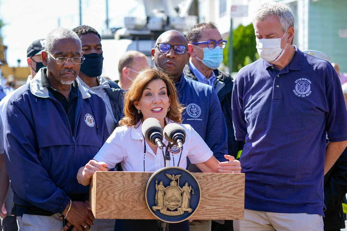 Hochul, de Blasio, Schumer vow cooperation, press for infrastructure funding in wake of storm