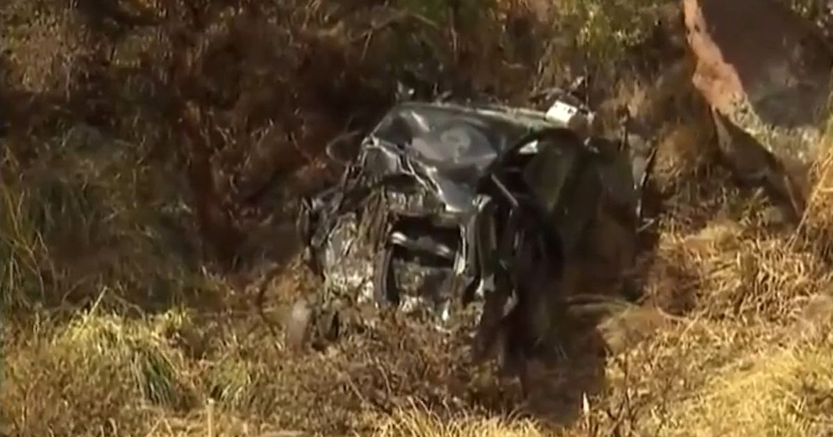 The car after the accident in which Agustina and Alma died