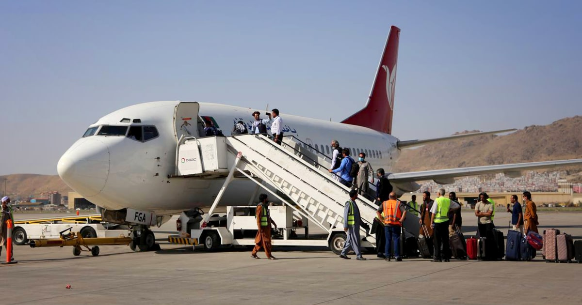 Kabul airport reopens for aid and domestic services