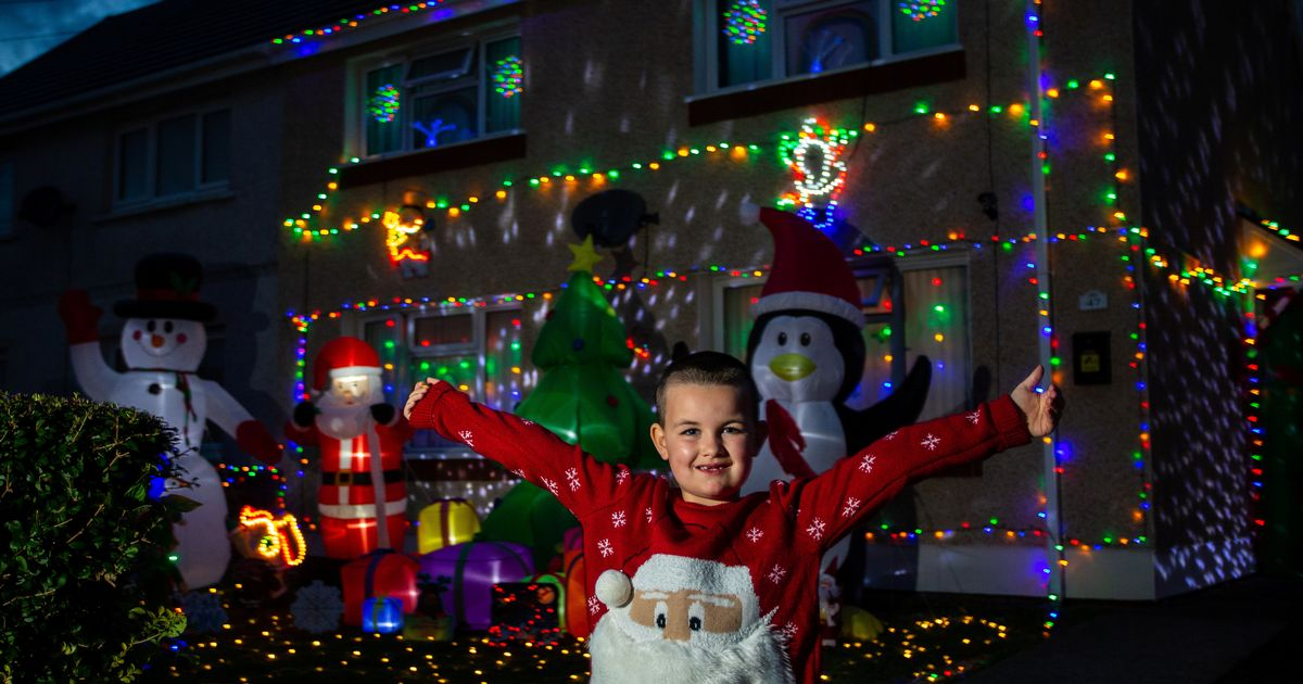 Mum puts up her Christmas decorations in September, with 5,000 lights