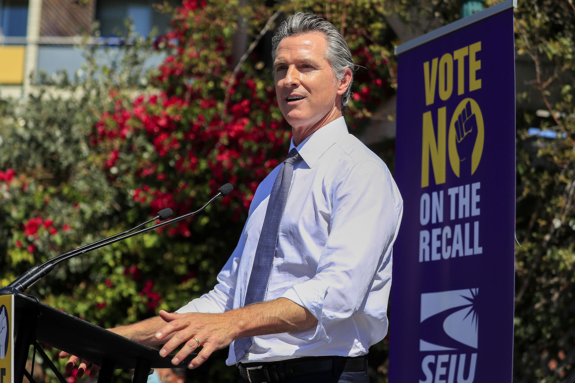 Newsom takes huge lead against recall after polls close in California
