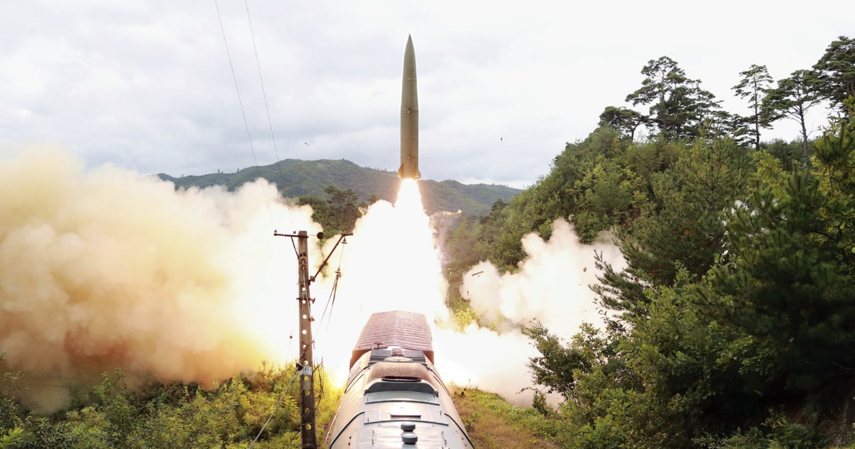 North Korea says it tested rail-launched ballistic missiles
