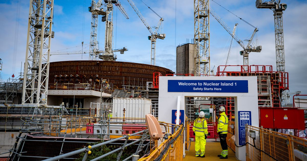 Number of people working on Hinkley Point C power station reaches 22,000